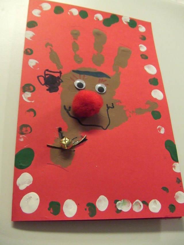tarjetas navideas hechas a mano ciervo tarjetas de navidad