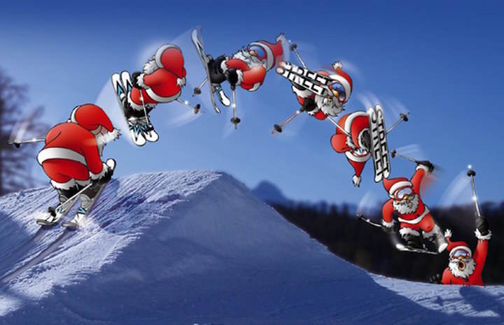tarjetas de navidad no estándares ideas originales papa Noel