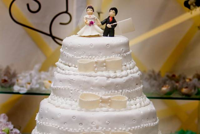 tarta de boda hermosa un detalle importante
