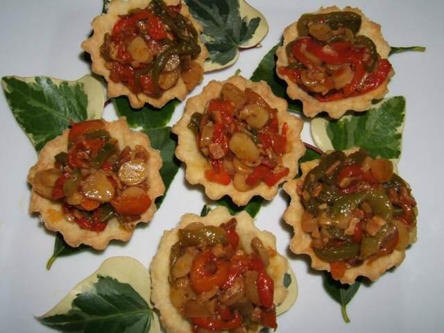 tarteletas de pimientos las recetas vegetarianas