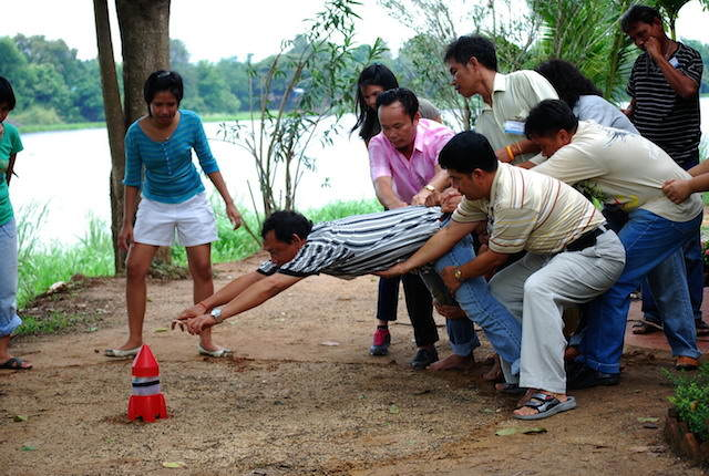 team building juego para lograr objetivo común