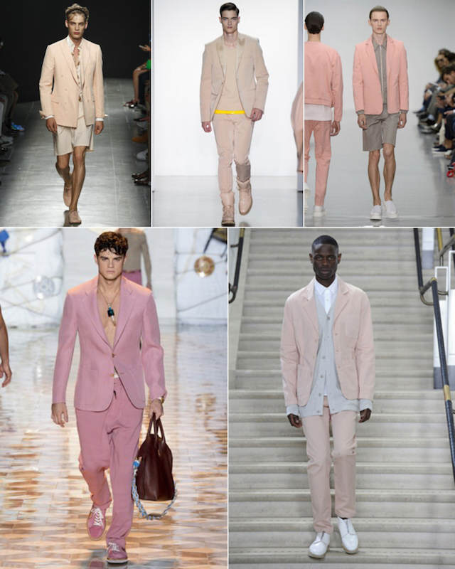 tendencias actuales trajes color rosa diferentes matices