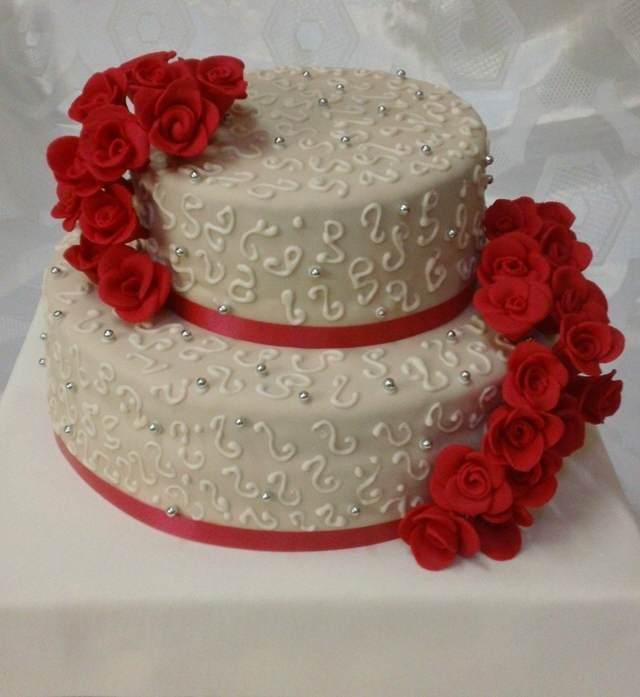 torta decorada bodas aniversario