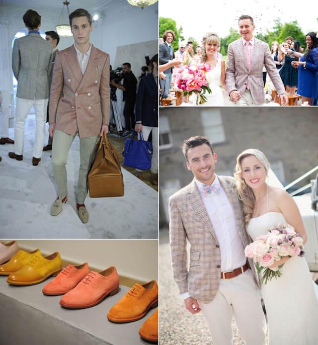 trajes detalles novio matices diferentes color rosa