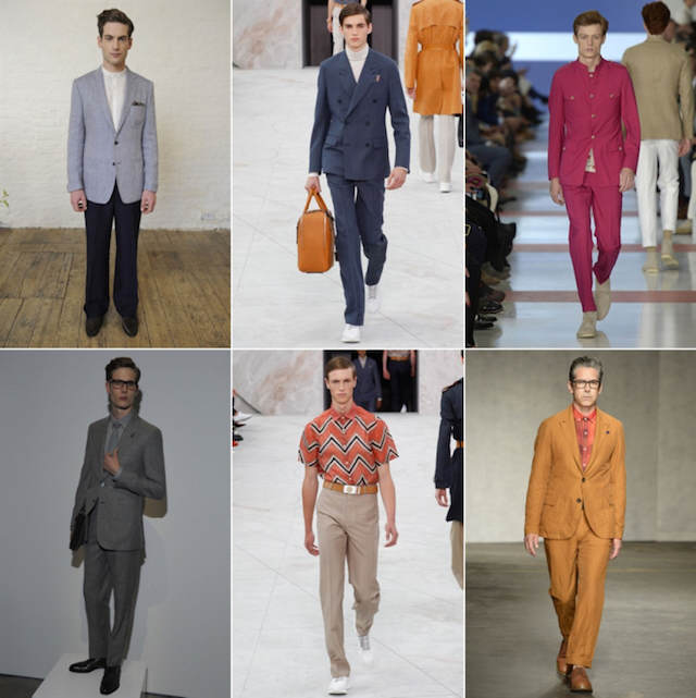trajes modernos tendencias nuevas 2015 estilo años 70
