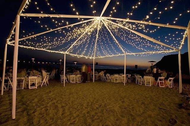 tramos de luces ideas de decoración con iluminación playa