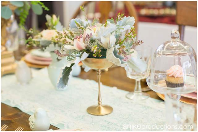 verde menta rosa oro decoración elegante cada evento