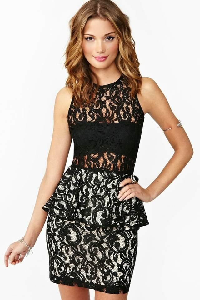 vestido de encaje corto idea sexy para un cóctel