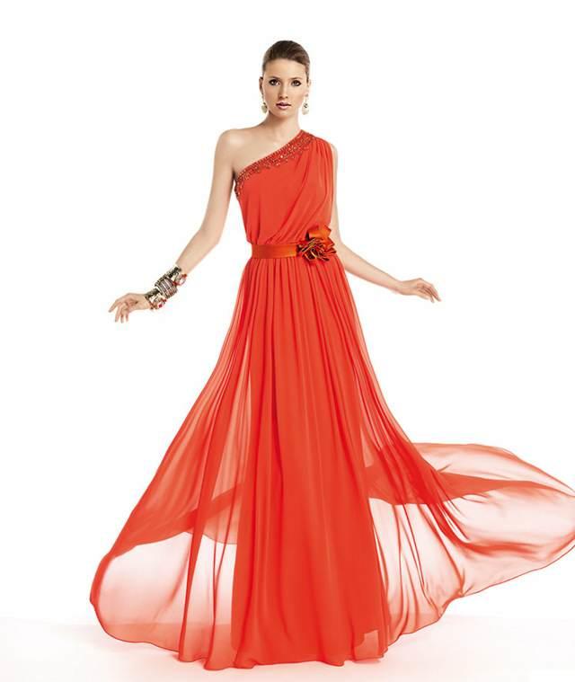 vestido de fiesta maravilloso color rojo accesorios