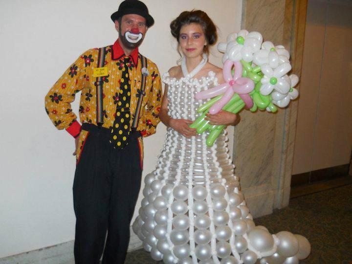 vestido de globos ideas decoración innovadoras divertidas creativas