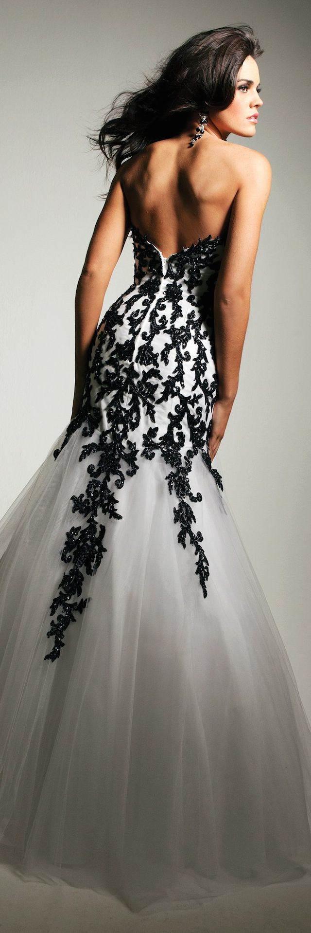 vestido de novia estilo navideño tradicional blanco negro