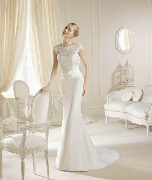 vestidos de novia maravilloso largo y elegante sin mangas