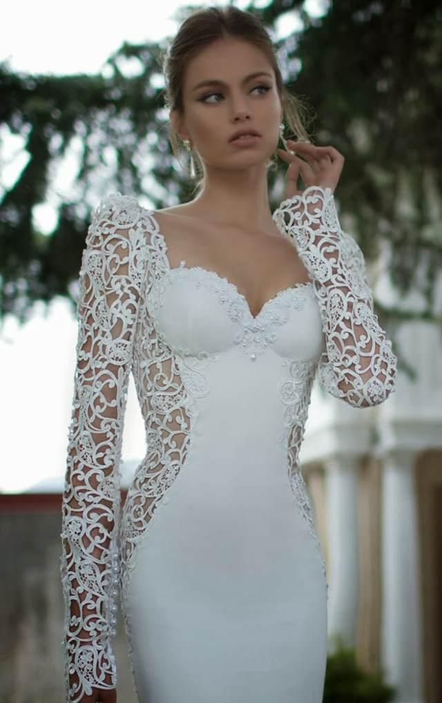 vestido de novia sexy y elegante