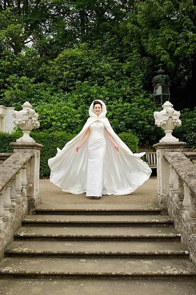 vestido de novia blanco tema cuentos de hadas