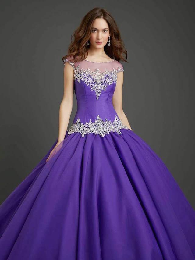 vestido elegante estilo real lila moderno 2014 2015