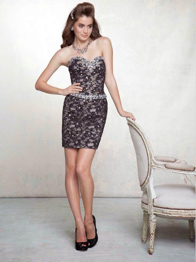 vestidos de 15 años cortos elegantes estilo vintage clásico