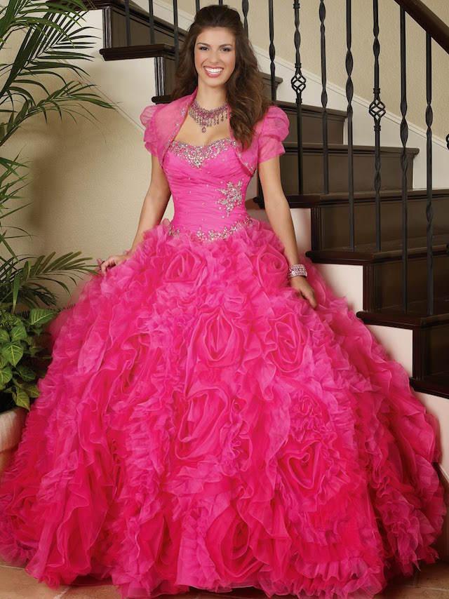 vestidos de 15 años roza estilo princesa visión clásica