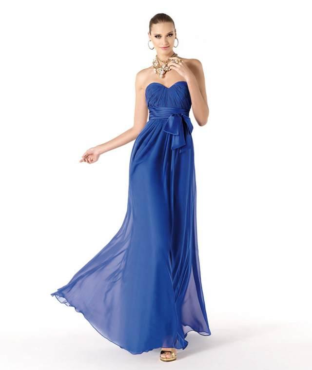 vestidos de cóctel una idea preciosa color azul