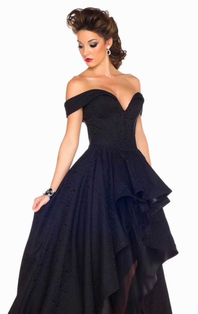 los vestidos graduación elegantes color negro