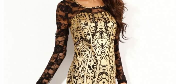 vestidos-de-noche-manga-larga-encaje-dorado