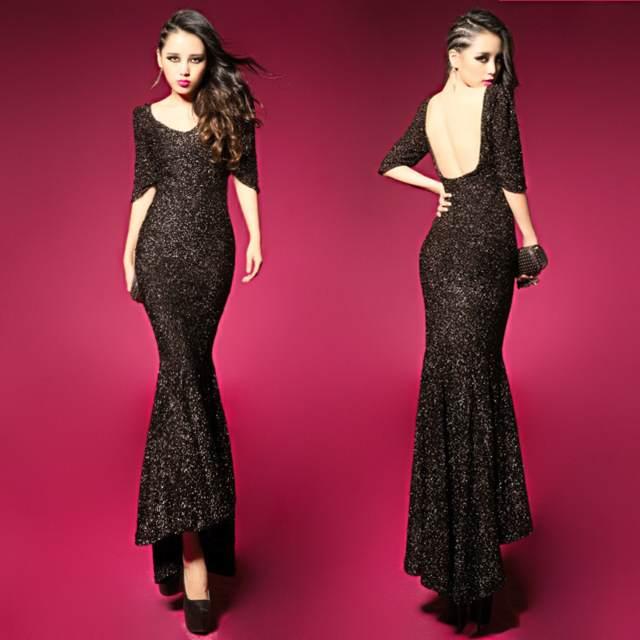 los vestidos de noche largos sin espaldas