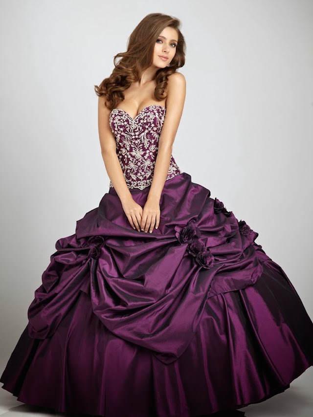 vestidos largos color sangria moderno 2014 2015