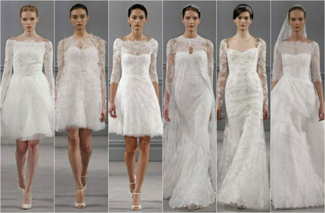 vestidos para novias con mangas largas ideas modernas