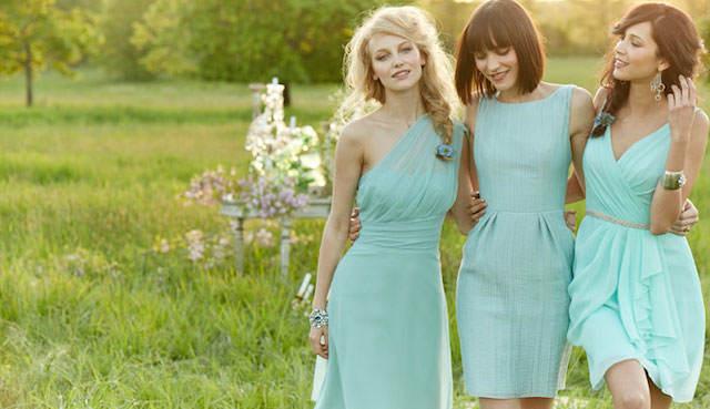 vestidos verde menta modernos fiesta jardín 2014