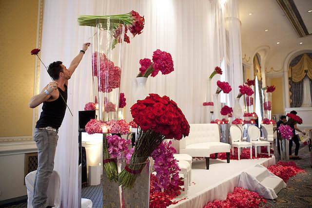 14 de febrero decoración temática preciosa flores
