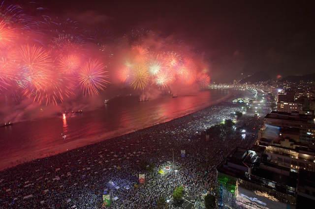 Año Nuevo 2015 playa Copacabana Río de Janeiro