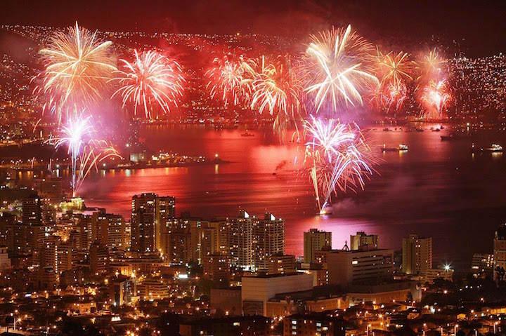 Año Nuevo Chile fiesta espectacular paisaje precioso