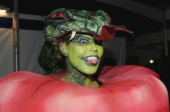 Heidi Klum Eva manzana disfraz original