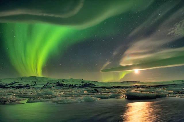Islandia luces de norte celebración San Valentín