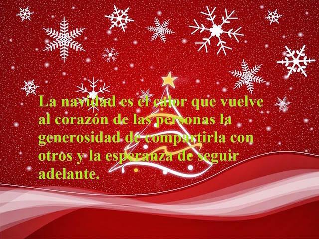 Navidad calor corazón generosidad compartir frases navideñas