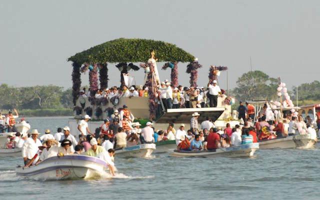 Rio Papaloapan procesión virgen Candelaria