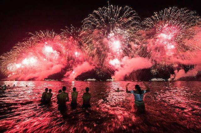 Rio de Janeiro playa Copacabana nuevo año