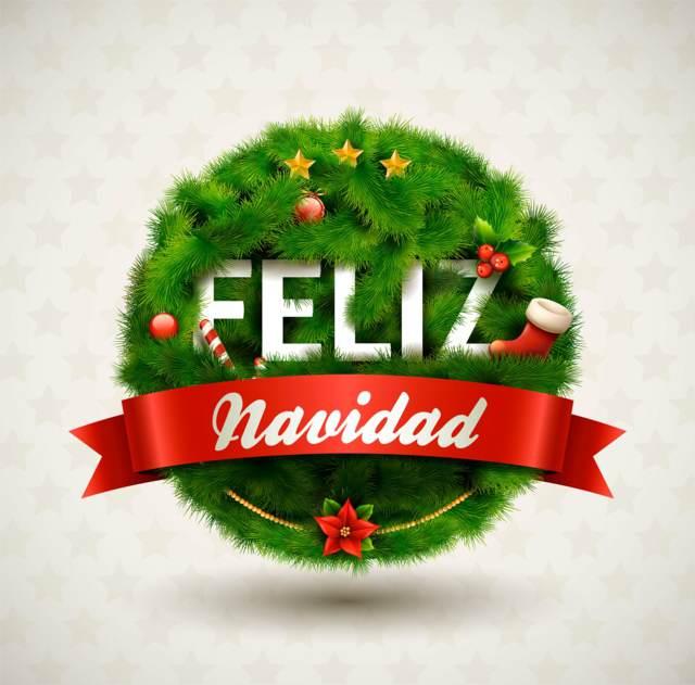 adornos mensaje Feliz Navidad