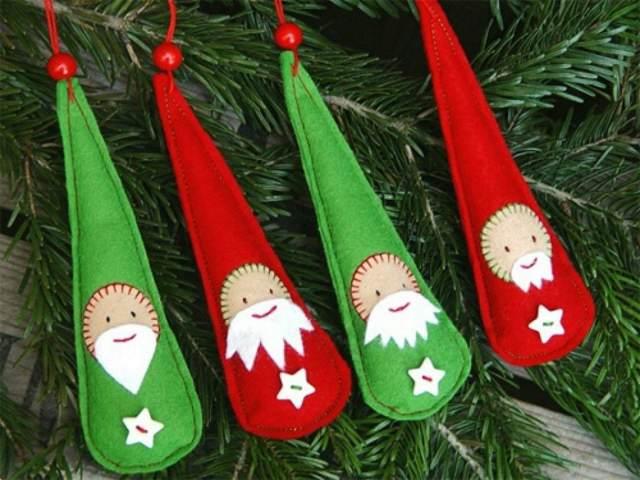 adornos colores verde rojo Papá Noel Navidad