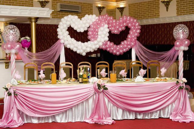 adornos de globos corazones preciosas boda elegante