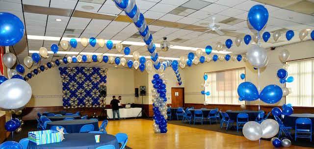 adornos de globos simples evento corporativo elegante