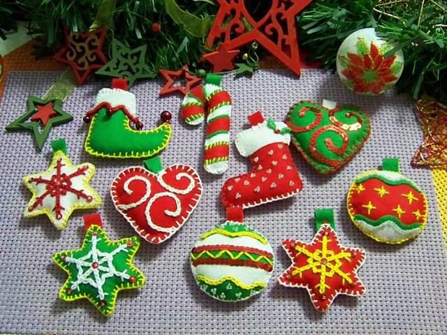 adornos decoración  Navidad los colores temáticos
