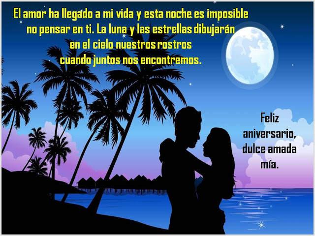 amor vida noche luna estrellas frases tiernas