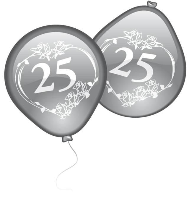 aniversario bodas plata globos