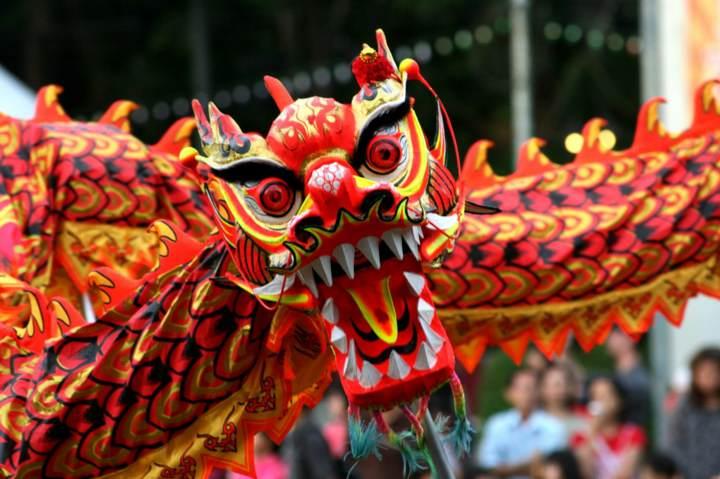 El Año Nuevo chino dragón símbolo