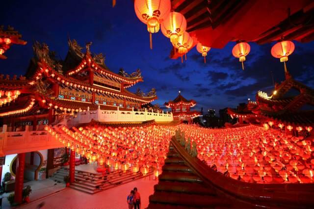 Año Nuevo chino luces linternas