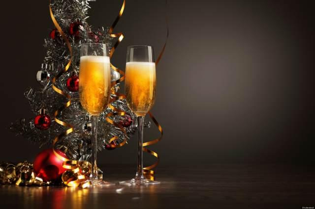 año nuevo la decoración champán