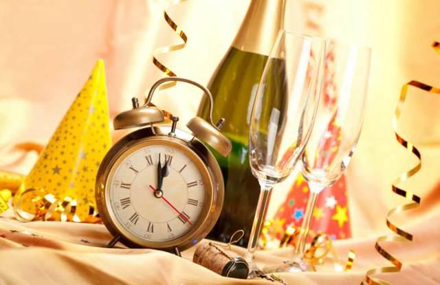 año nuevo una decoración reloj