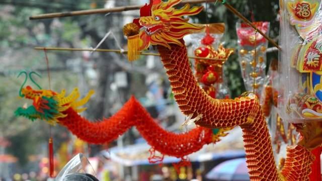 el dragón Año Nuevo