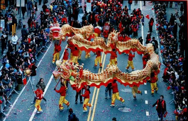 Año Nuevo lunar chino el dragón
