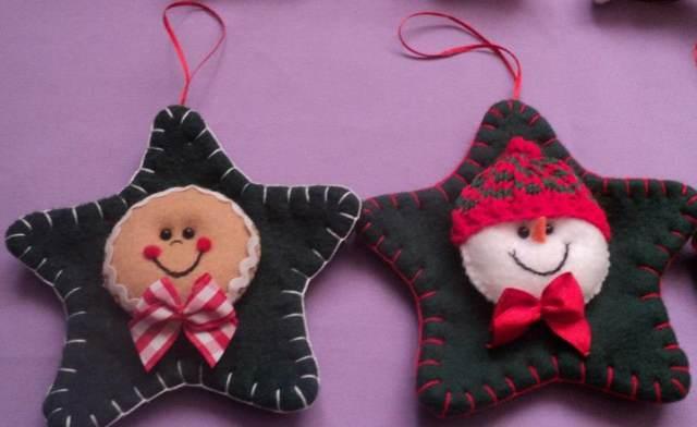 árbol Navidad colgante estrellas adornos preciosos